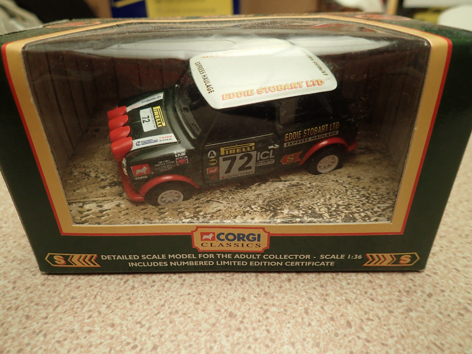 Ltd Edn Corgi Classics 04415 Eddie Stobart 1997 RAC Rally Mini Untouched