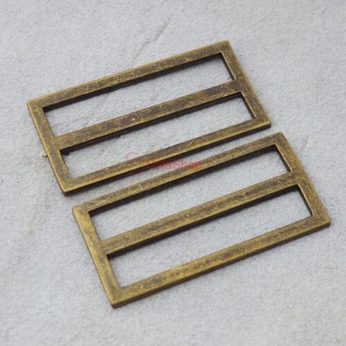 """1/"""" 1.5/"""" 2/"""" 25 mm 38 mm 50 mm Adjustor triglides diapositives Bracelet En Cuir Sangle bronze"""