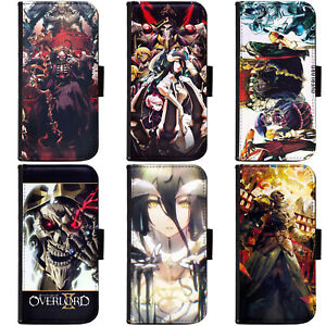 PIN-1-Anime-Overlord-Phone-Wallet-Flip-Case-Cover-for-LG-Motorola