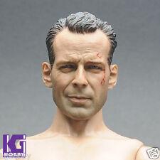 1/6 die hard Bruce Willis Figure Head Sculpt-John Mcclane fit hot toys body