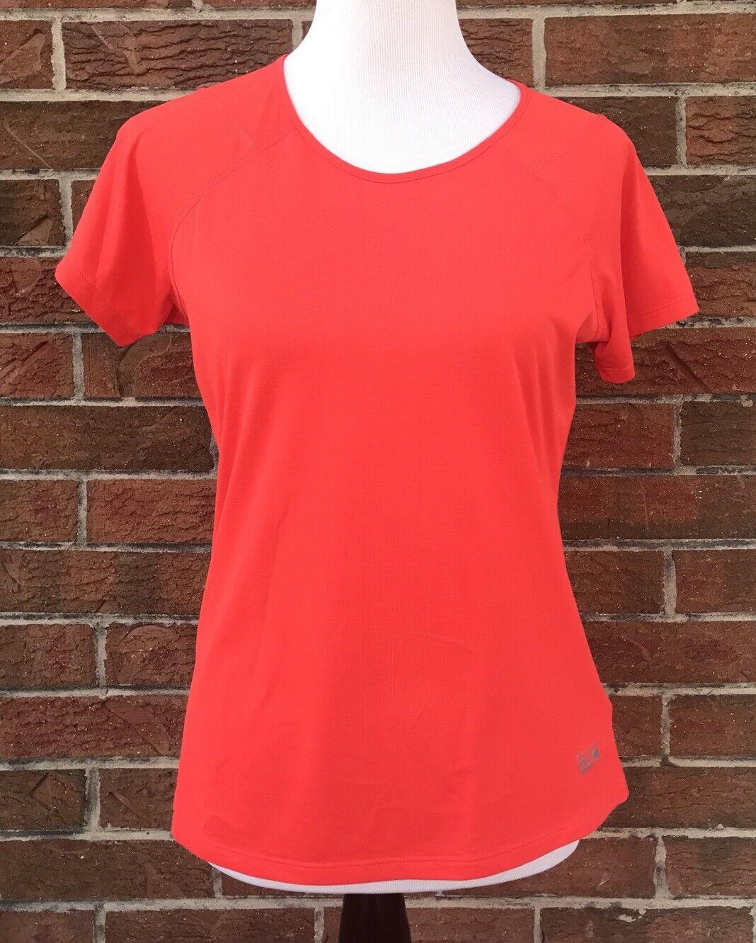 Mountain Hardwear Base Layer Polyester Womens Medium Short Sleeve Shirt *read