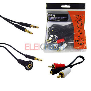 Auxiliary-Input-3-5mm-1-8-IS335-Jack-Dash-Adapter-RCA-iPhone-Android-Qty-20-LOT