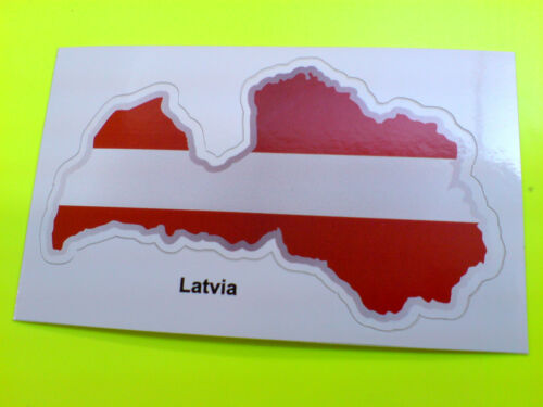 LATVIA Flag /& Map Motorcycle Helmet Van Car Bumper Sticker Decal 1 off 80mm