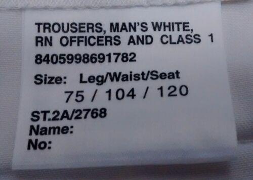 Genuine British Royal Navy Officer /& Class 1/&2 Trousers Officer /& Gentlemen NEW