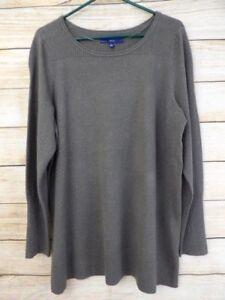 NWT-PLUS-SIZE-Women-039-s-APT-9-Gray-SPARKLE-Striped-TEXTURED-Classic-Sweater-2X