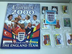 RARE-Complete-Merlin-England-Europe-2000-sticker-set-amp-empty-album