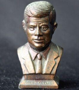 Vintage JOHN F KENNEDY Miniature Metal Souvenir Bust Japan | eBay
