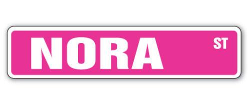 NORA Street Sign Childrens Name Room Decal Indoor//Outdoor