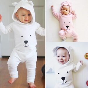 Newborn-Infant-Baby-Boy-Girl-Hooded-Cartoon-Romper-Jumpsuit-Outfits-Bodysuit