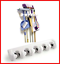 Brush-Broom-and-Mop-Holder-Tool-Hanger-5-Position-and-6-Hooks-Wall-Rack thumbnail 1