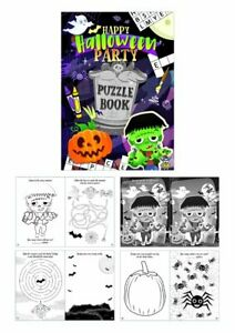 Halloween Activity Puzzle Book Kids Party Bag Filler Lucky Dip Toy Prizes