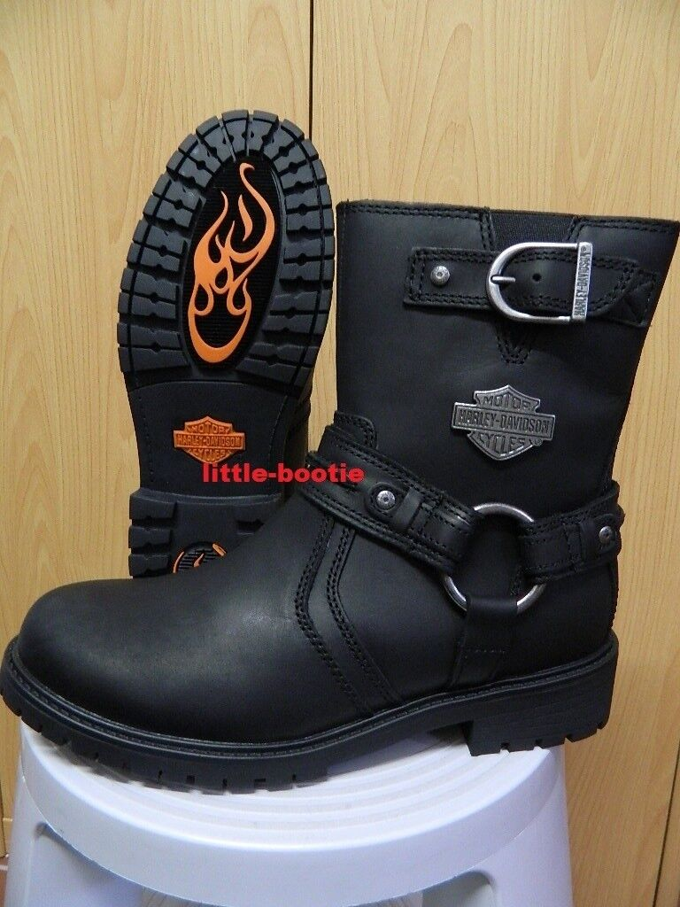 Harley-Davidson Stiefel Boots Leder schwarz Herren 42 od. 46  93351 Abner black