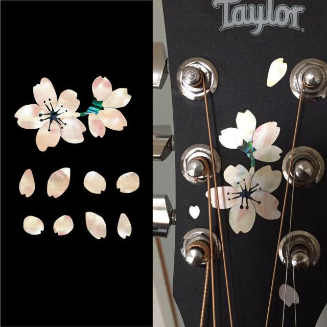Guitar & Bass Accessories Inlay Sticker Decal Headstock MOP Theme Sakura  Cherry