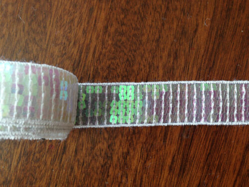 22 mm Shiny Flat Sequin Lace Trim 1 meter