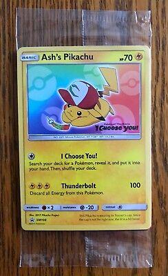 "Ash's Pikachu /""I Choose You/"" Pokémon Card Movie Promo SM108 FREE SHIPPING"