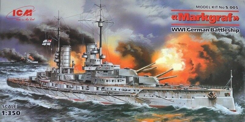 MARKGRAF   - WW I GERMAN BATTLESHIP 1 350 ICM