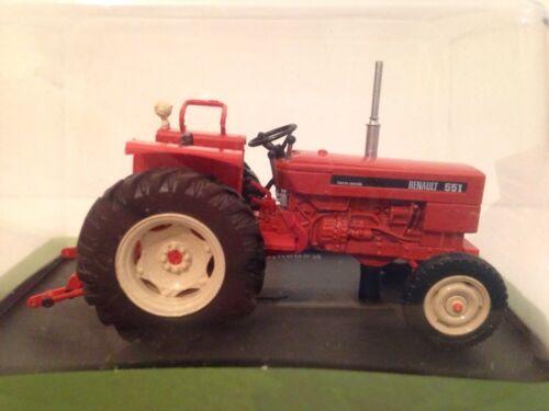 RENAULT 551 tracteur 1973 u h Hachette orange rouge à l/'échelle 01:43 Nouveau tr42