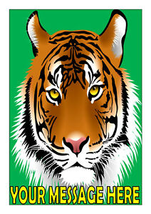 An A4 Tiger Personalised Cake Topper ICING
