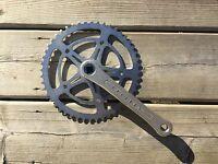 Vintage Bike Bicycle Peugeot Rh Crankset Rhs Crankarm And Chainring