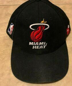 VINTAGE-Miami-Heat-Sports-Specialties-Hat-Cap-Black-w-Red-NBA-Basketball-90s