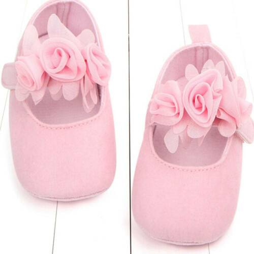 Baby Newborn Toddler Girls Crib Shoes Pram Soft Sole Anti-slip Prewalker Sneaker
