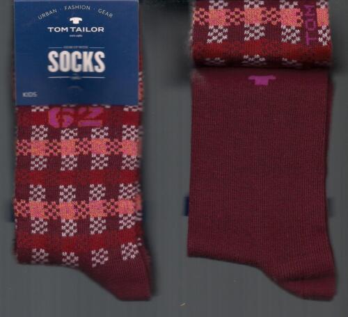 + taille * tom tailor * FB baumwollmix 2 paires de chaussettes 1x à carreaux 1x unicolore Div