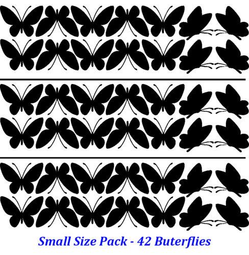 12-42 Mariposas Con 2 formas de arte pegatinas de Vinilo Hogar hágalo usted mismo de decoración de pared