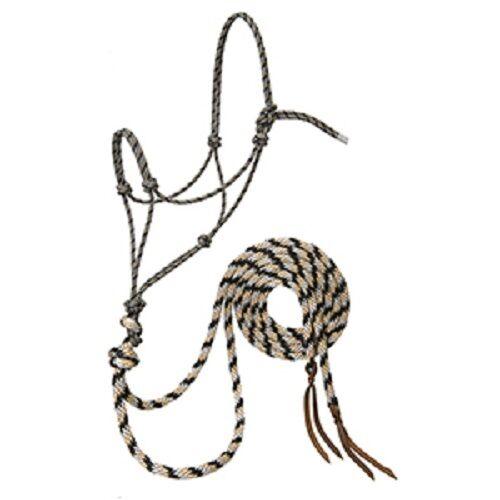 Weaver de aletas plateadas loping Halter de Cuerda con 8' Split riendas, promedio