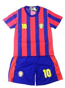 BOYS-FOOTBALL-KIT-SHORT-SET-BARCELONA-RED-BLUE-2-10years-BNWT-BARCELONA