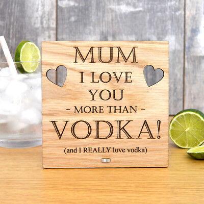 Mummy Gin Lover Je vous aime plus que Gin Personnalisé Fête Mères Cadeau pour Maman