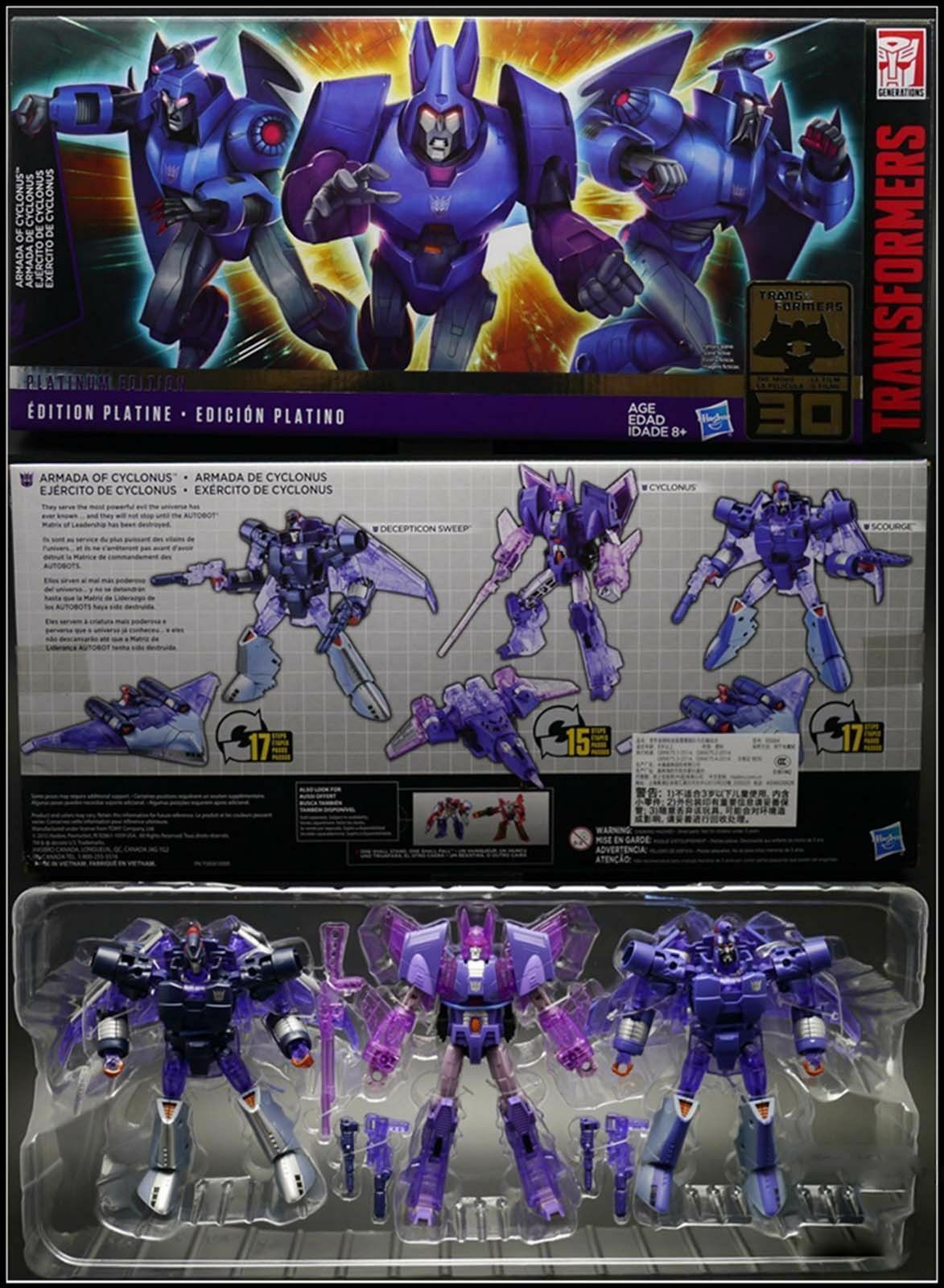 Transformers Platinum Edition ARMADA OF CYCLONUS SCOURGE DECEPTION SWEEP New