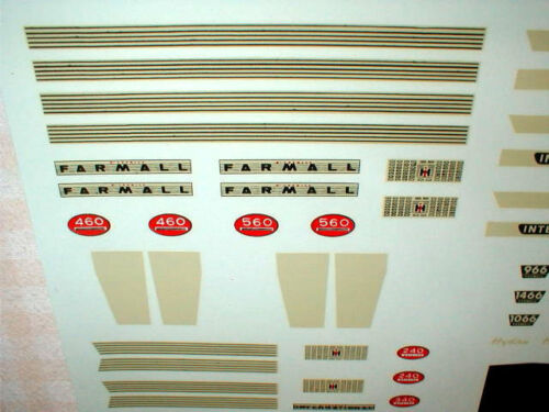 Water Transfer Decals ERTL 1//16 Scale IH McCormick Farmall JD Farm Toy 105