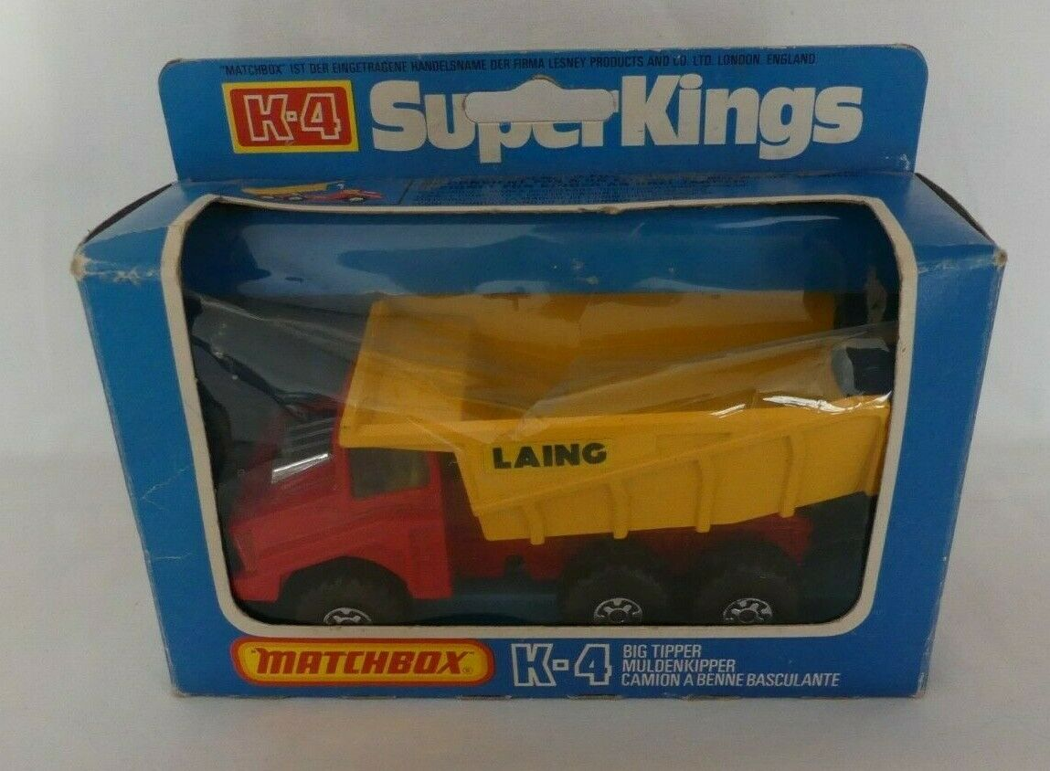 Matchbox súper Kings k-4 Big tipper camiones de volteo OVP