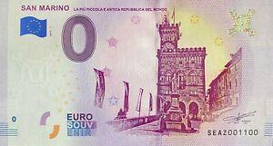 BILLET-0-EURO-SAN-MARINO-ITALIE-2019-NUMERO-1100