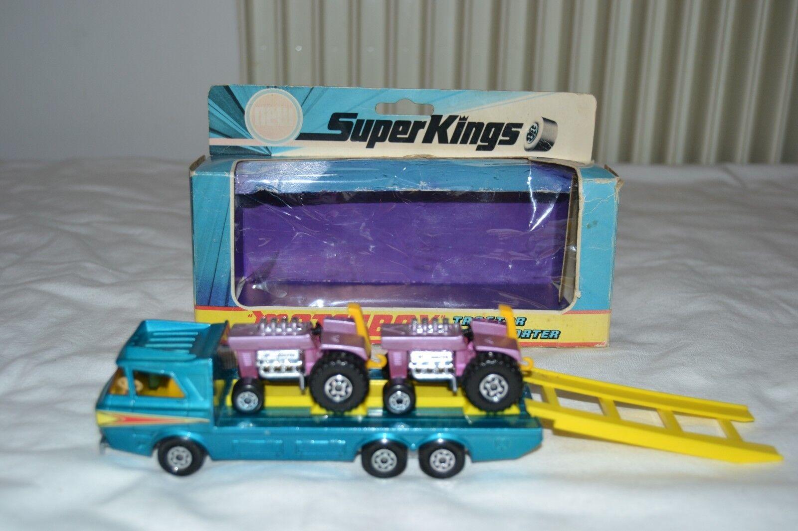 VEHICULE VINTAGE MATCHBOX SUPER KINGS K-21 TRACTOR TRANSPORTER 1974 LESNEY   boutique en ligne