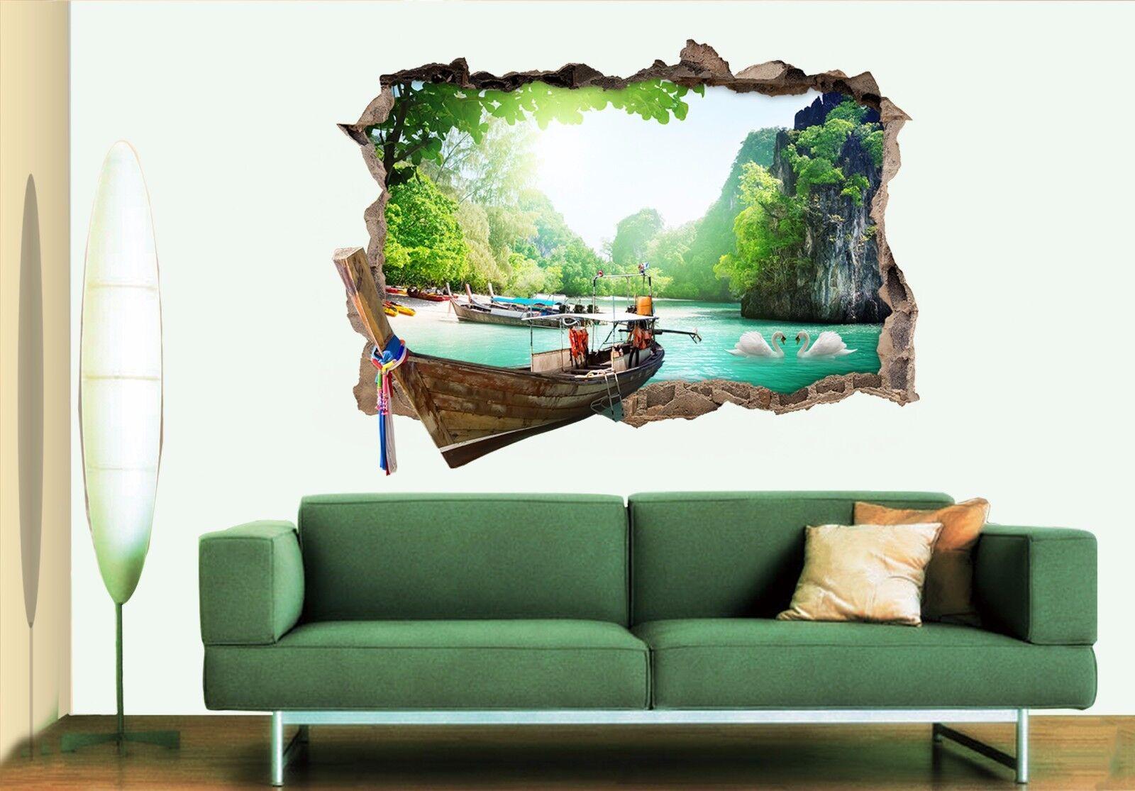 3D Landschaft 708 Mauer Murals Mauer Aufklebe Decal Durchbruch AJ WALL DE Kyra