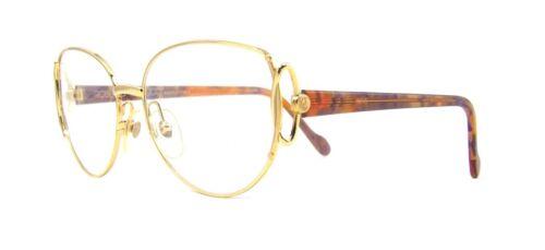 Women/'s Roberto Capucci 704 Fancy Gold Italian Designer Large Eyeglasses 90s NOS