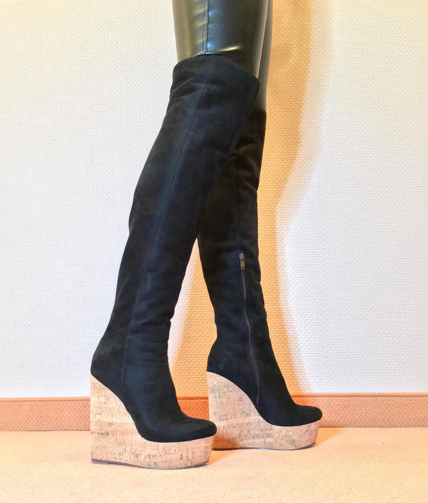 Grandes zapatos con descuento Gr.42 TOP ! Exklusiv Sexy Damen Schuhe Overknee Wedges Stiefel Männer Boots C7