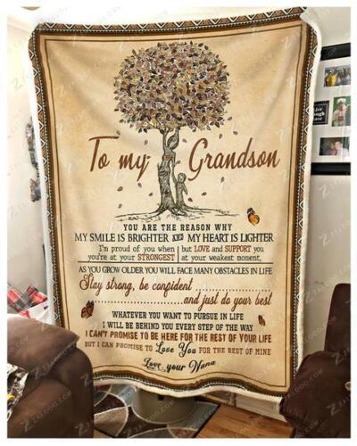 To My Grandson You Are The Reason Why Nana Sofa Fleece Blanket 50-80