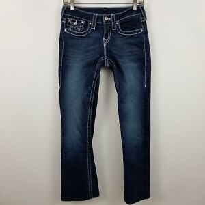 cc90beaf6 True Religion Disco Becky Big T Womens Boot Cut Dark Wash Blue Jeans ...