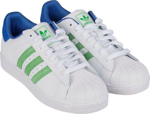 the best attitude 5f92d d4b2b G99861 ADIDAS Originals Superstar 2 SHOES White Green Blue Size 19 ANB