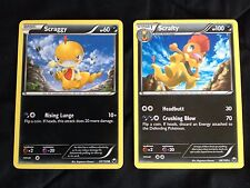 Pokemon Dark Explorers Non-Holo Scrafty 68/108 & Scraggy 67/108 EX/N/M