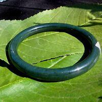 Certified 63.7mm - 193 Ct Natural Nephrite Jade Round Bangle Bracelet