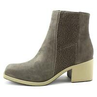 Naya Gang Women Square Toe Leather Ankle Boot Gray Color 8m