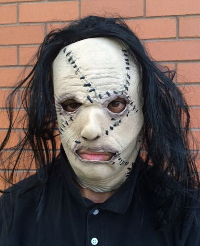 Halloween Serial Killer Stitched Face Leatherface Mask Latex Flesh Fancy Dress
