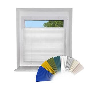 Klemmfix-PLISSEE-fuer-Fenster-amp-Tuere-Faltrollo-Rollo-Sichtschutz-ink-Klemmtraeger