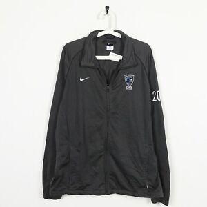 Nike-Vintage-pequeno-logotipo-Zip-Up-Track-Jaqueta-Top-Cinza-XL