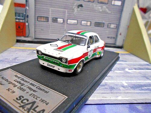 FORD Escort MKI Nürburgring ETCC DRM 1974 #27 Ludwig Heyer Castrol Scala 1:43