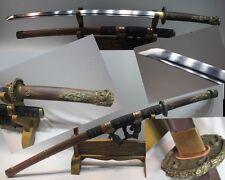 High Quality Battle Ready Japan Samurai Sword Katana Folded Pattern Steel Sharp