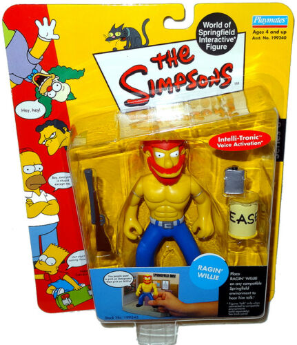 Simpsons Ragin Willie Action Figure WOS RARE MOC Series 8 World Of Springfield !
